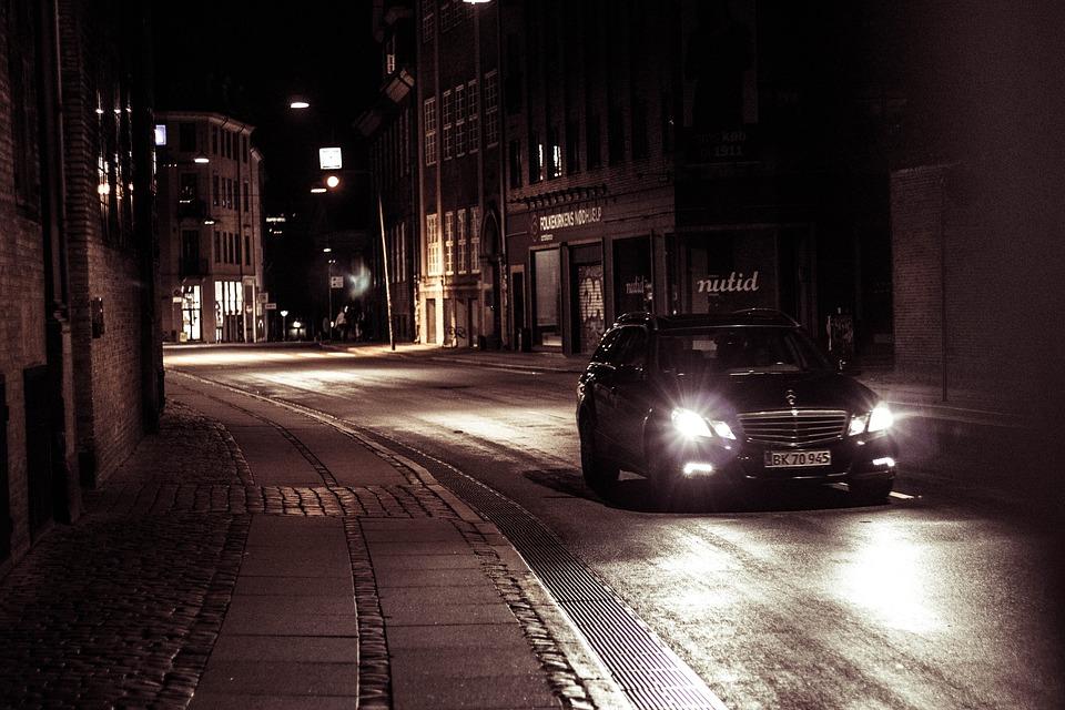 Bilens strålkastare