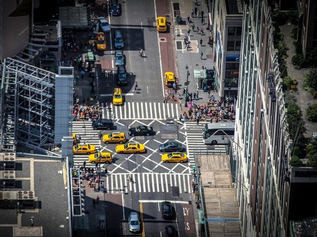 Taxibilar i stadstrafik